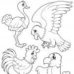 Coloring book bird image 1 — Stock Vector #17411269
