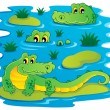 Image with crocodile theme 1 — Image vectorielle