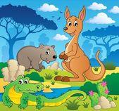 Australian animals theme 1 — Stock Vector