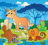 澳洲动物主题 1オーストラリアの動物のテーマ 2 — ストックベクタ