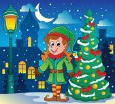 Christmas elf theme 6 — Stock Vector