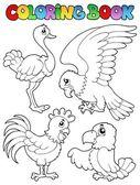 Coloring book bird image 1 — Stock Vector