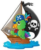 Image with pirate parrot theme 1 — Stock Vector