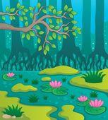 Swamp theme image 2 — Stock Vector