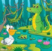 沼テーマ画像 3 — ストックベクタ
