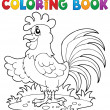 Coloring book bird image 7 — Stock Vector