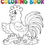 Coloring book bird image 7 — Stock Vector