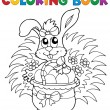 Coloring book with Easter theme 9 - Stock Vector