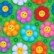 Flowery seamless background 8 — Vector de stock #18783915