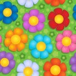 Vector de stock : Flowery seamless background 9