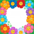 Frame from flowers 1 — Stock Vector