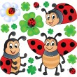 Image with ladybug theme 1 - Stock Vector