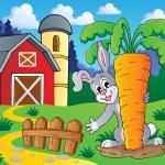 Image with rabbit theme 2 — Stock Vector