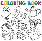 Coloring book with Easter theme 6 — Stock Vector