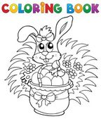 Coloring book with Easter theme 9 — Stock Vector