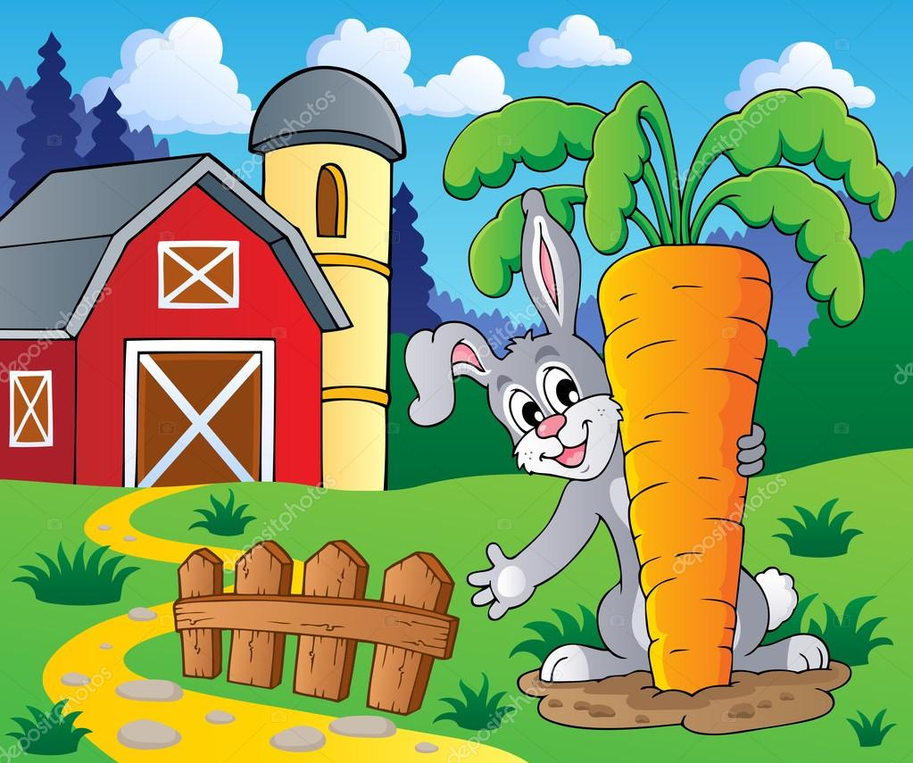 Image with rabbit theme 2 - vector illustration.  Stock Vector #18784049