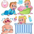 Royalty-Free Stock Vector Image: Babies theme collection 1