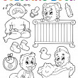 Coloring book babies theme image 1 — Stock Vector #19819783