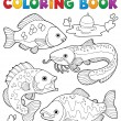 Coloring book freshwater fishes 1 — Stock Vector #19819837