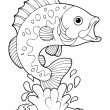 Coloring book freshwater fishes 2 — Stock Vector #19819865