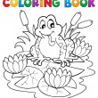 Coloring book river fauna image 2 — Stock Vector