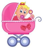 Baby carriage theme image 4 — Stock Vector