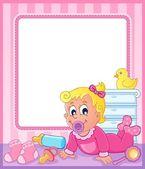 Baby theme frame 2 — Stock Vector