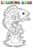 Coloring book freshwater fishes 2 — Stock Vector