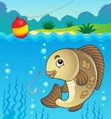 Freshwater fish theme image 1 — Stock Vector