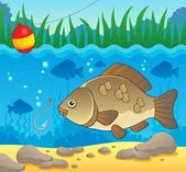 Freshwater fish theme image 2 — Stock Vector