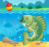 Freshwater fish theme image 4 — Stock Vector