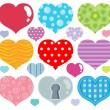 Heart theme image 7 — Stock Vector