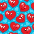 Royalty-Free Stock Vector Image: Seamless background with hearts 7