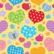 Seamless background with hearts 8 — Imagen vectorial
