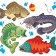 Various freshwater fishes 2 — Stock Vector #19820153