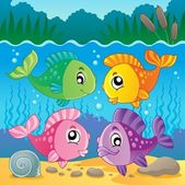 Freshwater fish theme image 7 — Stock Vector