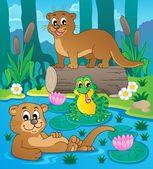 River fauna theme image 3 — Stock Vector