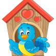 Bird nesting box theme image 1 - Vettoriali Stock