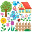 Garden theme collection 1 — Stock Vector