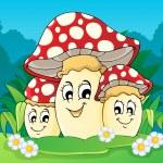 Mushroom theme image 2 — Stock Vector