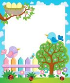 Frame with spring theme 1 — Stock Vector