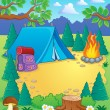 Camp theme image 1 — Stock Vector