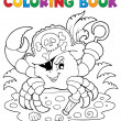 Coloring book with pirate crab — Stock Vector #22565653