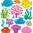Coral reef theme collection 1 — Stock Vector #22565681