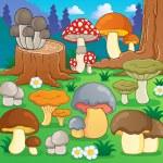 Mushroom theme image 4 — Stock Vector