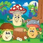 Mushroom theme image 6 — Stock Vector