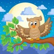 Stock Vector: Owl theme image 1