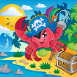 Royalty-Free Stock Vector Image: Pirate crab theme image 2