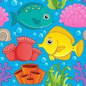 Seamless background sea theme 1 — Stock Vector
