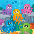 Octopus theme image 1 - Stockvectorbeeld